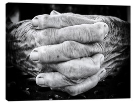 Canvas  Hands of an old man