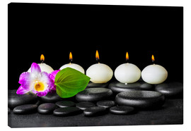 Canvas print  spa still life with candles