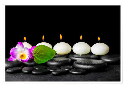 Premium poster spa still life with candles
