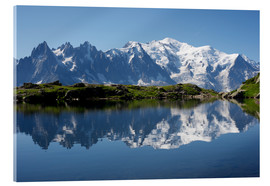 Acrylic glass  Lake at Mont Blanc