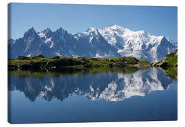 Canvas  Lake with Mont Blanc massif