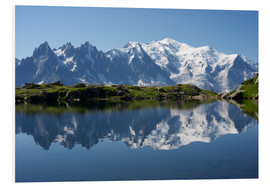 Foam board print  Lake at Mont Blanc
