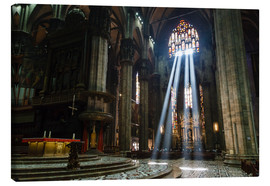 Canvas print  Beams of Light inside Milan Cathedral