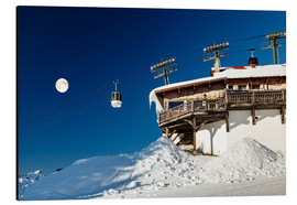 Aluminium print  Chairlift and lodge in Megève