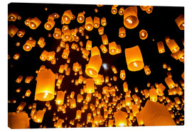 Canvas print  Sky lanterns in Chiangmai
