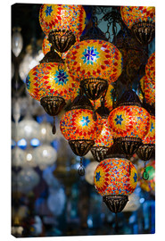 Canvas print  Mosaic lanterns in Istanbul