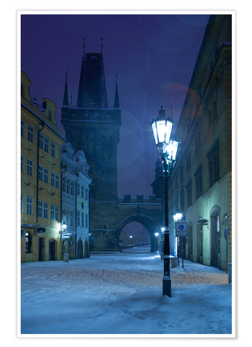Premium poster Street in Prague on a winter morning