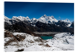 Acrylic glass  Everest, Lhotse, Makalu, Nuptse