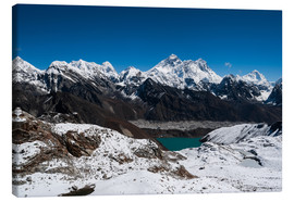 Canvas  Everest, Lhotse, Makalu, Nuptse