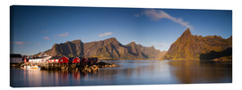 Canvas  Panorama fishing village Hamnoy, Lofoten, Norway - Circumnavigation