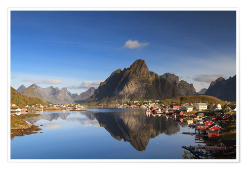 Premium poster Refelction at Reine, Lofoten, Norway