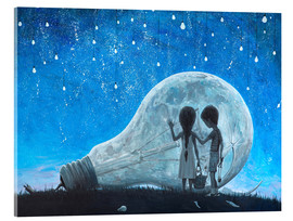 Acrylic glass  The night we broke the Moon - Adrian Borda