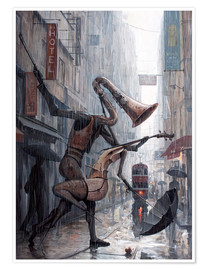 Poster  Life is a dance in the rain - Adrian Borda