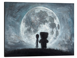 Alu-Dibond  In my dreams you always bring me to the Moon - Adrian Borda