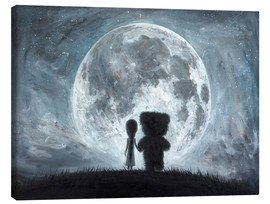 Canvas print  In my dreams you always bring me to the Moon - Adrian Borda