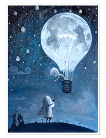 Premium poster  He gave me the brightest star - Adrian Borda