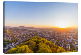 Canvas  Sunset in Freiburg - Dieterich Fotografie