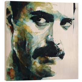 Wood print  Freddie Mercury - Paul Lovering