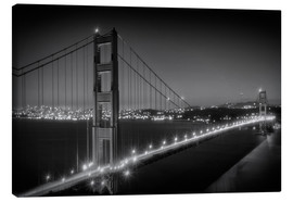 Canvas  Evening Cityscape of Golden Gate Bridge - Melanie Viola