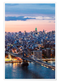 Premium poster Manhattan bridge and skyline