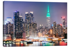 Canvas print  Empire State building and Manhattan skyline at night, New York city, USA - Matteo Colombo