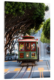 Acrylic glass  Cable tram in a street of San Francisco, California, USA - Matteo Colombo