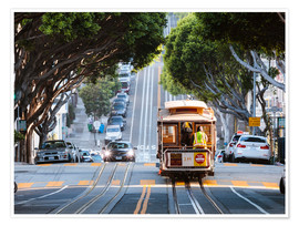Premium poster  Cable tram in a street of San Francisco, California, USA - Matteo Colombo