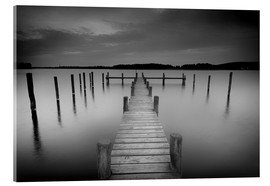 Acrylic glass  Old wooden pier in the still waters - Filtergrafia