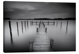 Canvas print  Old wooden pier in the still waters - Filtergrafia