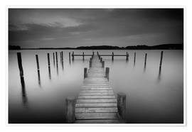 Premium poster Old wooden pier in the still waters