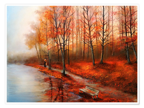 Premium poster Autumn in red