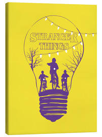 Golden Planet Prints - Alternative stranger things yellow version art