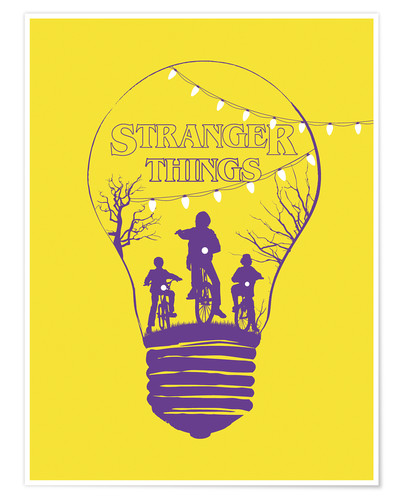 Poster Alternative stranger things yellow version art