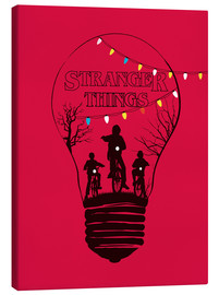 Canvas print  Stranger Things, red - Golden Planet Prints