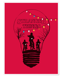 Premium poster Stranger Things, red