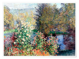 Poster  The corner - Claude Monet