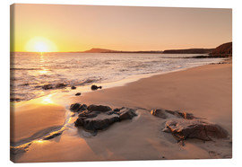 Canvas print  Sunset at a beach, Lanzarote - Markus Lange