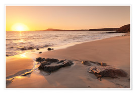 Premium poster  Sunset at a beach, Lanzarote - Markus Lange