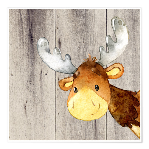 Poster 4 Friends - Forest Animals - Moose