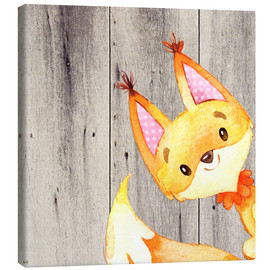 Canvas  4 Forest Animal Friends - Fox - UtArt