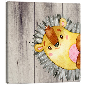 Canvas  4 forest friends - Hedgehog - UtArt