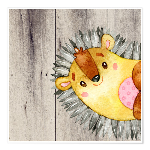 Premium poster 4 forest friends - Hedgehog