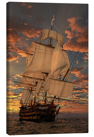 Canvas print  The HMS victory - Peter Weishaupt