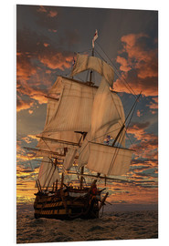 Foam board print  The HMS victory - Peter Weishaupt