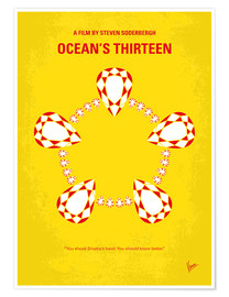 Premium poster No706 My Oceans 13 minimal movie poster