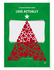 Premium poster No701 My Love Actually minimal movie poster
