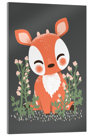 Acrylic print  Animal friends - The fawn - Kanzi Lue