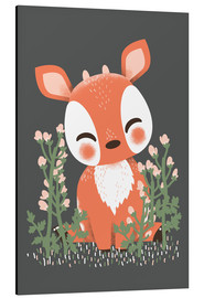 Alu-Dibond  Animal friends - The fawn - Kanzi Lue