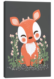 Canvas print  Animal friends - The fawn - Kanzilue