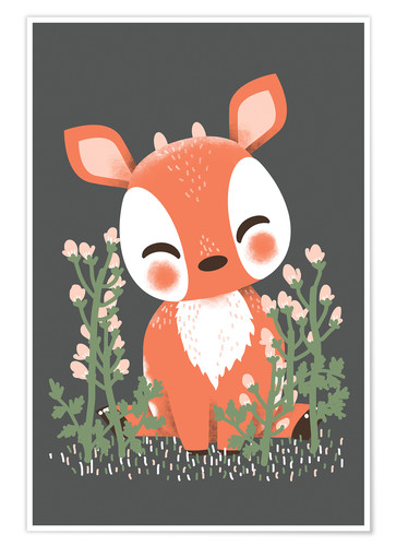 Premium poster Animal friends - The fawn